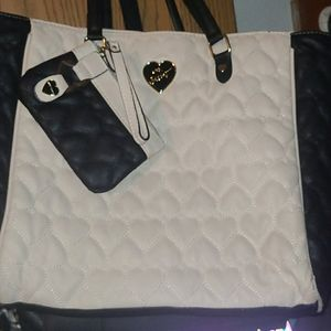 Betsey Johnson Tote Bag with Clip on Small…